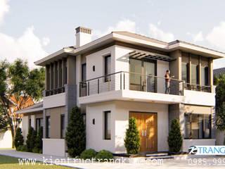 Thiết kế biệt thự 2 tầng đẹp hiện đại hút mắt nhìn bởi Kiến trúc Trang Kim Hiện đại