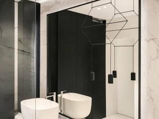 Luksusowe umywalki nablatowe od Cristalstone Skandynawska łazienka od Luxum Skandynawski