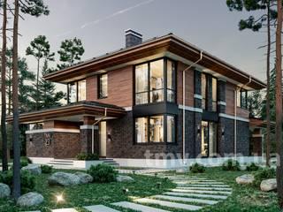 Проект двухэтажного дома в стиле Райта TMV 23 by TMV Architecture company