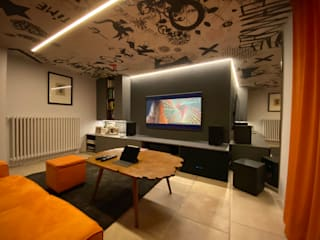 Mediterranean style media room by Rossi Design - Architetto e Designer Mediterranean