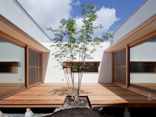 松原建築計画 一級建築士事務所 / Matsubara Architect Design Office Jardin scandinave Bois Effet bois
