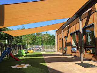 ZONZ sunsails Escuelas de estilo moderno Plástico Beige