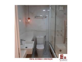 APARTAMENTO VILA OLÍMPIA Banheiros modernos por Portal Reformas & Construção Moderno