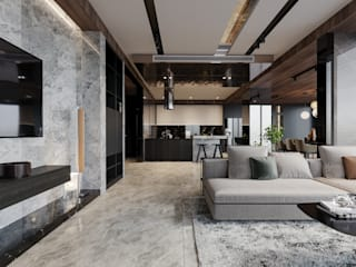 Biệt thự Mỹ Thái, Phú Mỹ Hưng Công ty TNHH xây dựng và đầu tư Thiên Phố Living roomAccessories & decoration Gỗ Grey