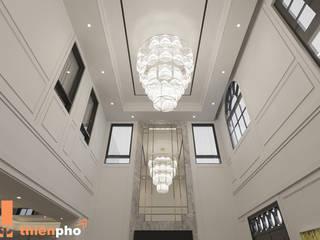 Biệt thự Nam Long, Phú Mỹ Hưng Công ty TNHH xây dựng và đầu tư Thiên Phố Phòng khách phong cách kinh điển Bê tông Grey