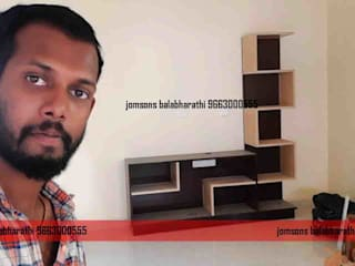 balabharathi pvc interior design Living roomTV stands & cabinets Plastic Wood effect