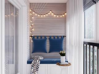 Балкон в дизайне 2-комнатной квартиры от Студия современной архитектуры Анны Черноокой Скандинавский