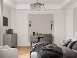 Квартира для молодой семьи в Ялте Спальня в классическом стиле от МосАрх.рф Классический