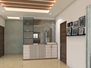3 BHK spacious home at Vertex Panache by SD Interiors & Modulars Asian