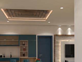 2 BHK Modern dining room by SD Interiors & Modulars Modern