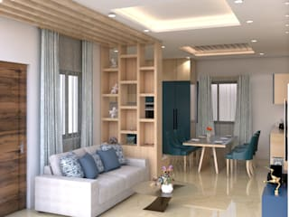 2 BHK Modern living room by SD Interiors & Modulars Modern