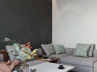 Thi Công Nội Thất Căn Hộ 1 Phòng Ngủ Phòng khách phong cách mộc mạc bởi Deco Việt Mộc mạc