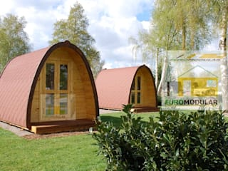 Casa de Madeira Modelo Camp 18 por EUROMODULAR Campestre