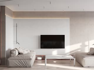 Minimalist living room by he.d group Minimalist