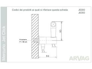 ARVAG SRL Modern bathroom Metal Metallic/Silver