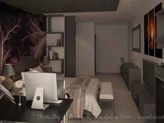 Eclectic style bedroom by GALICIA AV Arquitectura más Virtual Eclectic