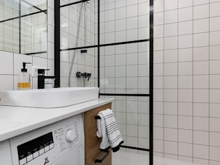 Scope Interior Design Piotr Skorupa Scandinavian style bathroom Ceramic White