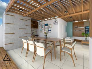 Terraza Moderna en Azotea de Departamento Ubicado en Miraflores Balcones y terrazas modernos de G2studio Moderno