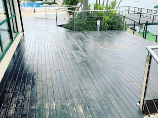 Lijado reparacion de lamas tarima exterior Hoteles de estilo tropical de Montajesmallorca Tropical