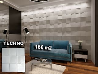 Placas Gesso 3D por António Campos Aves Gesso 3D Unipessoal LDA Moderno