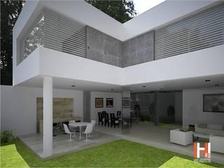 HHRG ARQUITECTOS Modern balcony, veranda & terrace