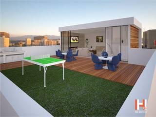 ROOF GARDEN Balcones y terrazas modernos de HHRG ARQUITECTOS Moderno