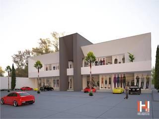 ÁREA COMERCIAL Casas modernas de HHRG ARQUITECTOS Moderno