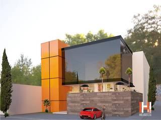 LOCALES COMERCIALES Casas modernas de HHRG ARQUITECTOS Moderno