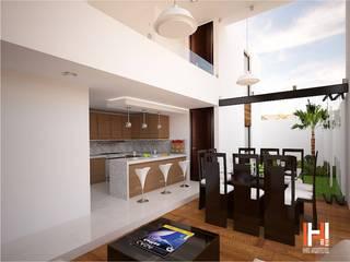 HHRG ARQUITECTOS Modern dining room