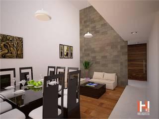 HHRG ARQUITECTOS Modern living room