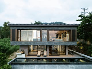 RL House - Tropical Modern House - Punta Fuego, Nasugbu Batangas City Philippines by 8X8 Design Studio Co. Tropical