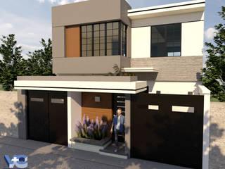 CASA HABITACIÓN LG Casas modernas de V+C Arquitectura Moderno