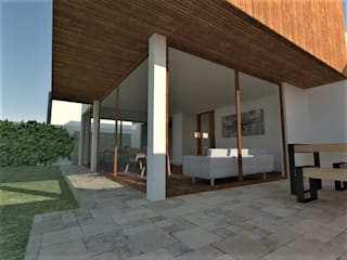 Martin Rojas Arquitectos Asoc. Balkon, Beranda & Teras Minimalis