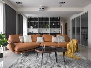禾.和《坤山禾和》 现代客厅設計點子、靈感 & 圖片 根據 極簡室內設計 Simple Design Studio 現代風