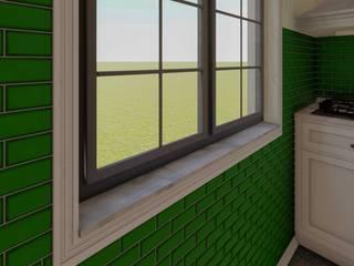 Mutfak Tasarımı Kırsal Pencere & Kapılar Yeşil Aks Mimarlık Kırsal/Country