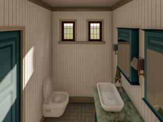 Banyo Tasarımı Kırsal Banyo Yeşil Aks Mimarlık Kırsal/Country