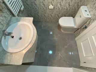 Deco Bosch Baños de estilo clásico Cerámico Gris
