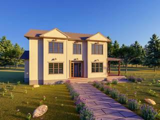 Mimari Villa Projesi Kırsal Pencere & Kapılar Yeşil Aks Mimarlık Kırsal/Country