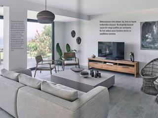 Bodrum Türkbükü B.A. Projesi Modern Oturma Odası AR+P Mimarlık Modern