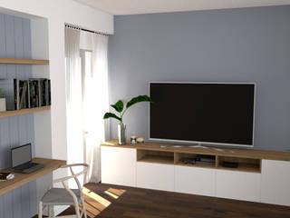 Interiorismo Vivienda La Salle Rediarq Interiorismo Salones de estilo escandinavo
