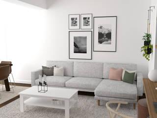 Interiorismo Vivienda La Salle Salones de estilo escandinavo de Rediarq Interiorismo Escandinavo