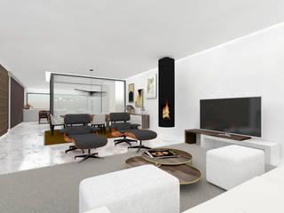 Moradia T5 Cascais Salas de estar modernas por R2ATELIER Moderno