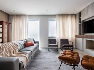 Casa - Reforma Área Social Integrada e Contemporânea Salas de estar modernas por Mirá Arquitetura Moderno