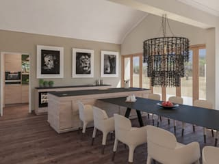 Project Siavonga, Zambia. Deborah Garth Interior Design International (Pty)Ltd Modern dining room