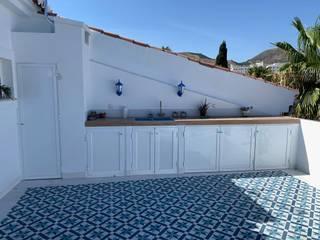 Deco Bosch Balcones y terrazas mediterráneos Aluminio/Cinc Blanco