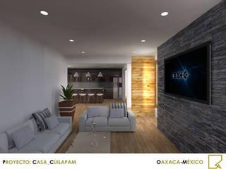 CASA_CUILAPAM Salones modernos de ADCA CONSTRUCCIÓNES Moderno