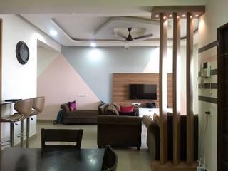 3BHK Apartment Interior Minimalist living room by TAPSHAM ARCHITECTS Minimalist
