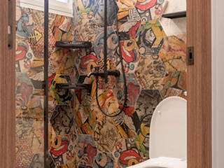"Project 4Room BTO Bukit Batok ""Eclectic"" Eclectic style bathroom by Chapter 3 Interior Design Eclectic"
