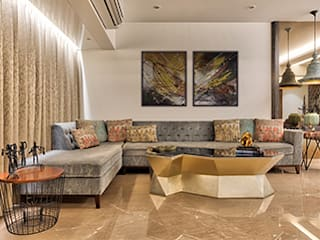 Worli Residence Modern living room by Inscape Designers Modern