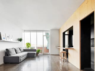 Mediterrane Wohnzimmer von Vallribera Arquitectes Mediterran